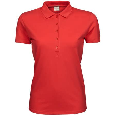 Ladies` Luxury Stretch Polo in Coral von Tee Jays (Artnum: TJ145