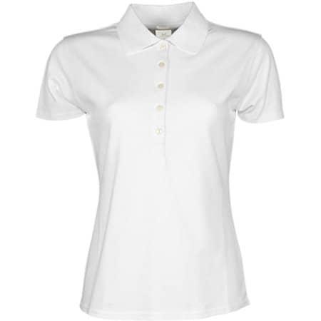 Ladies` Luxury Stretch Polo in White von Tee Jays (Artnum: TJ145
