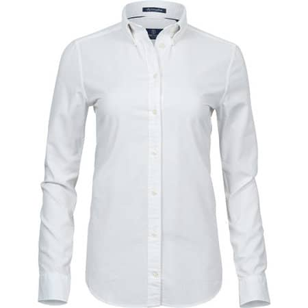 Ladies Perfect Oxford Shirt in White von Tee Jays (Artnum: TJ4001
