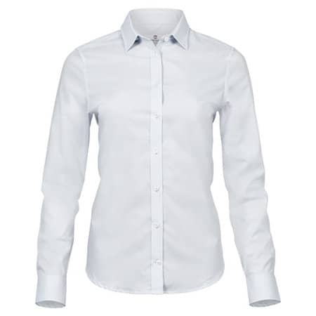 Ladies Stretch Luxury Shirt in White von Tee Jays (Artnum: TJ4025