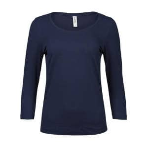 Ladies` Stretch 3/4 Sleeve Tee