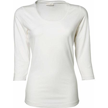 Ladies` Stretch 3/4 Sleeve Tee in White von Tee Jays (Artnum: TJ460