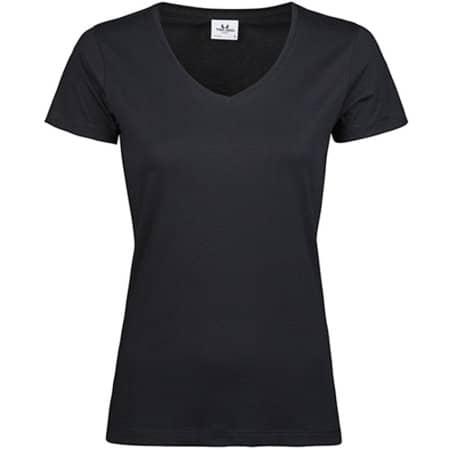 Womens Luxury V-Neck Tee in Black von Tee Jays (Artnum: TJ5005