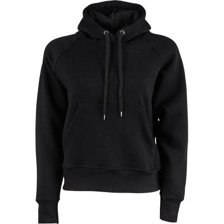 Ladies` Hooded Sweatshirt in Black von Tee Jays (Artnum: TJ5431