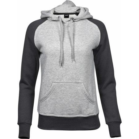 Ladies` Two-Tone Hooded Sweatshirt von Tee Jays (Artnum: TJ5433