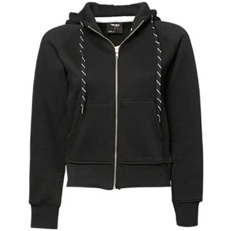 Ladies` Fashion Full Zip Hood in Black von Tee Jays (Artnum: TJ5436N