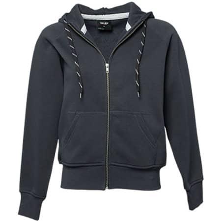 Ladies` Fashion Full Zip Hood in Dark Grey (Solid) von Tee Jays (Artnum: TJ5436N