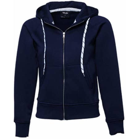 Ladies` Fashion Full Zip Hood in Navy von Tee Jays (Artnum: TJ5436N