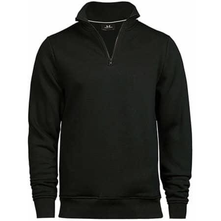 Half Zip Sweatshirt in Black von Tee Jays (Artnum: TJ5438
