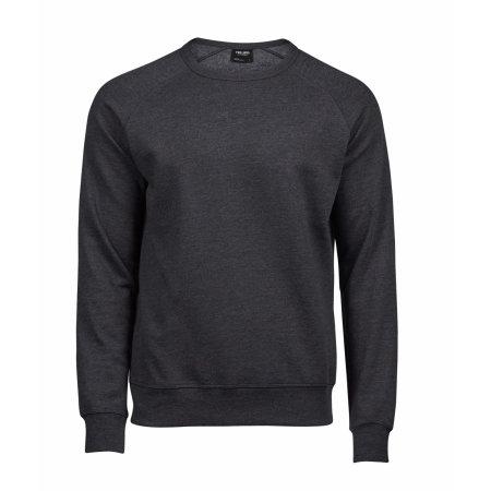 Lightweight Vintage Sweatshirt in Black Melange von Tee Jays (Artnum: TJ5500