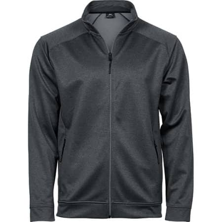 Performance Zip Sweat in Dark Grey Melange von Tee Jays (Artnum: TJ5602