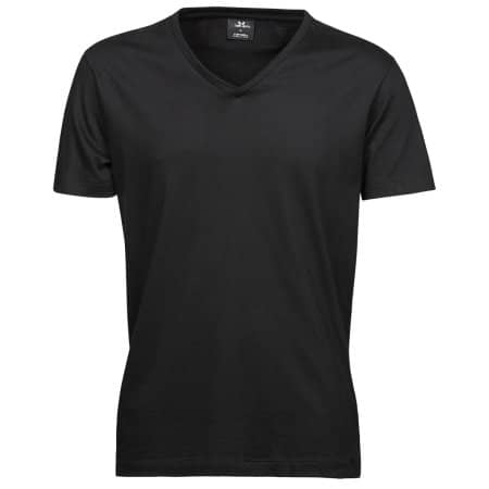 Fashion V-Neck Sof Tee in Black von Tee Jays (Artnum: TJ8006