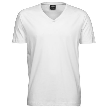 Fashion V-Neck Sof Tee in White von Tee Jays (Artnum: TJ8006