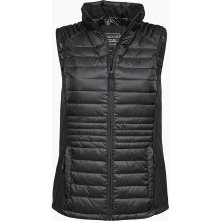 Ladies` Crossover Bodywarmer in Black|Black von Tee Jays (Artnum: TJ9625
