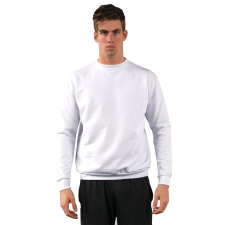 Crew Sweatshirt in White von Vapor Apparel (Artnum: VA550