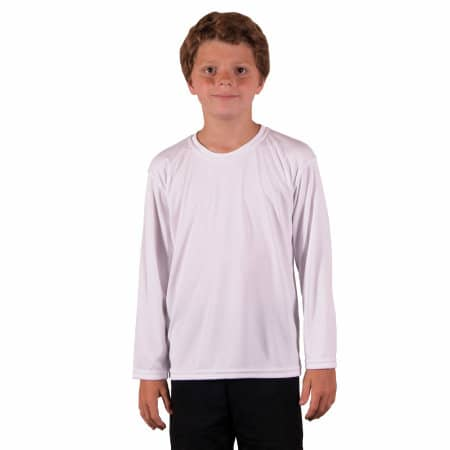 Youth Solar Performance Long Sleeve T-Shirt von Vapor Apparel (Artnum: VA780