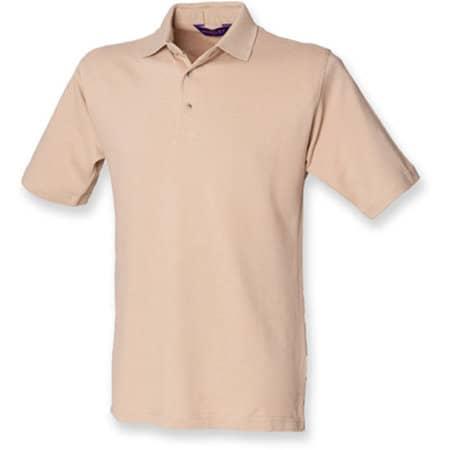 Classic Cotton Piqué Polo Shirt in Camel von Henbury (Artnum: W100