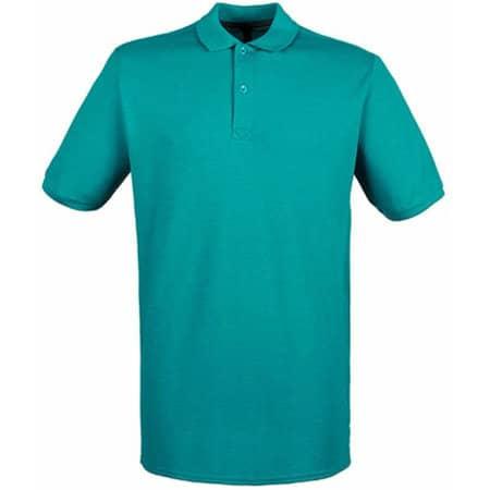 Modern Fit Cotton Microfine-Piqué Polo Shirt in Bright Jade von Henbury (Artnum: W101