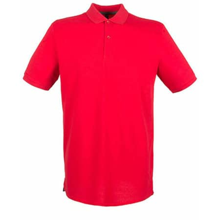 Modern Fit Cotton Microfine-Piqué Polo Shirt in Classic Red von Henbury (Artnum: W101