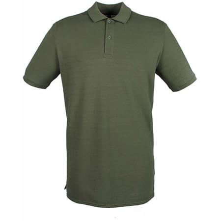 Modern Fit Cotton Microfine-Piqué Polo Shirt in Olive von Henbury (Artnum: W101