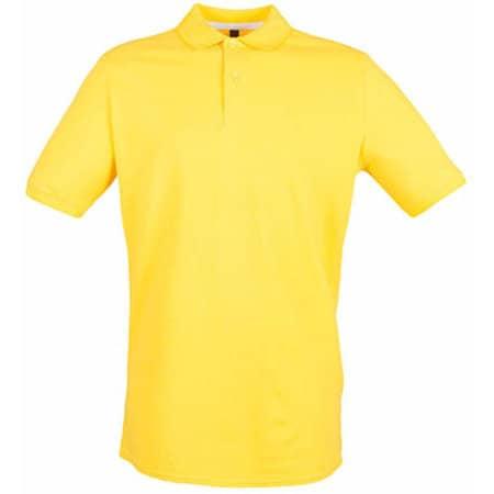 Modern Fit Cotton Microfine-Piqué Polo Shirt in Yellow von Henbury (Artnum: W101