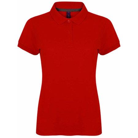 Ladies` Microfine-Piqué Polo Shirt in Classic Red von Henbury (Artnum: W102