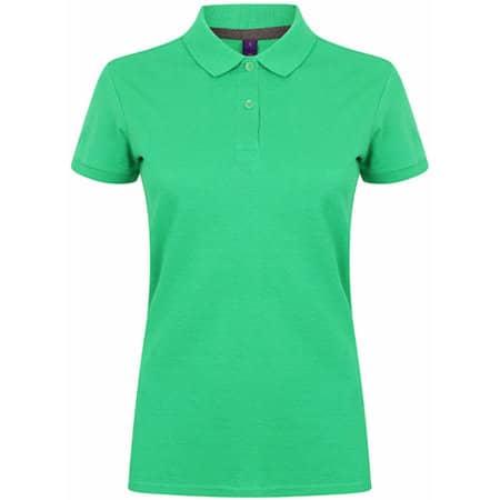Ladies` Microfine-Piqué Polo Shirt in Kelly Green von Henbury (Artnum: W102