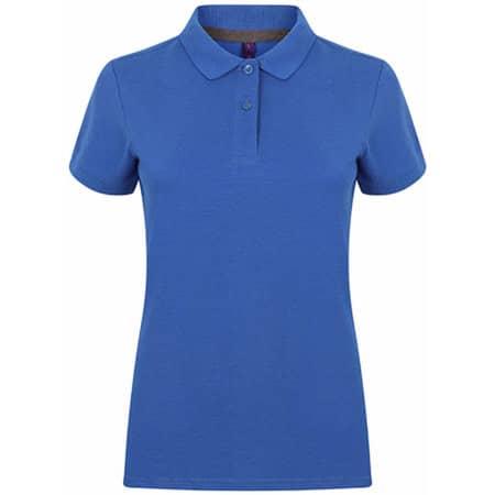 Ladies` Microfine-Piqué Polo Shirt in Royal von Henbury (Artnum: W102