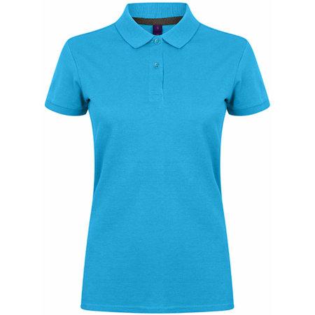 Ladies` Microfine-Piqué Polo Shirt in Sapphire Blue von Henbury (Artnum: W102