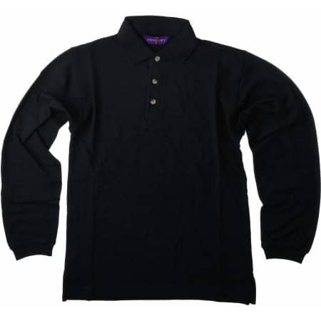 Long Sleeved Cotton Piqué Polo Shirt von Henbury (Artnum: W105