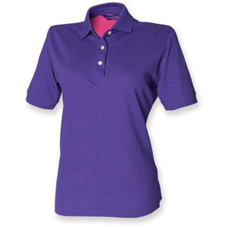 Ladies` Classic Cotton Piqué Polo Shirt in Purple von Henbury (Artnum: W121