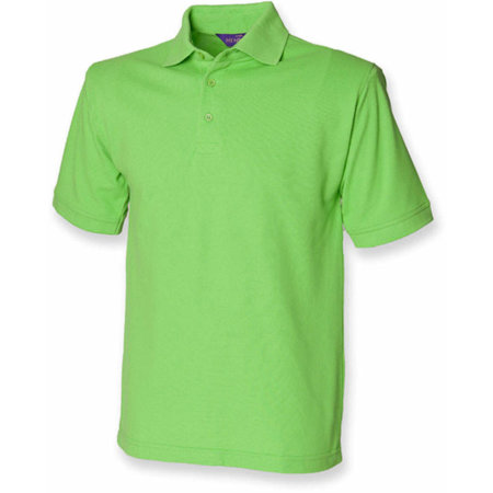 Men`s 65/35 Classic Piqué Polo Shirt in Bright Lime von Henbury (Artnum: W400