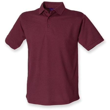 Men`s 65/35 Classic Piqué Polo Shirt in Burgundy von Henbury (Artnum: W400