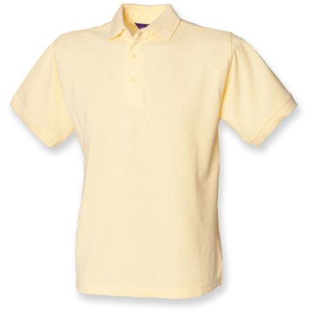 Men`s 65/35 Classic Piqué Polo Shirt in Lemon von Henbury (Artnum: W400