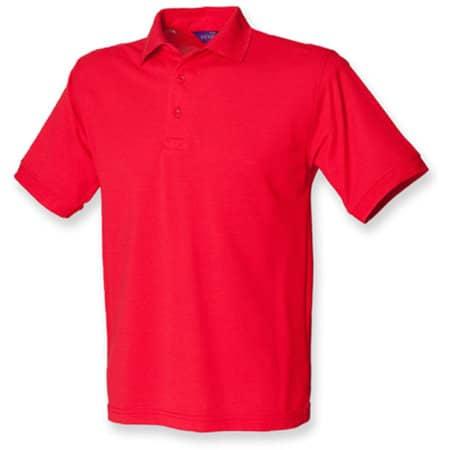 Men`s 65/35 Classic Piqué Polo Shirt in Red von Henbury (Artnum: W400