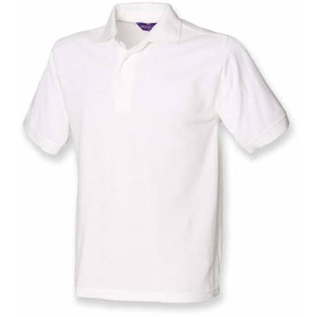 Men`s 65/35 Classic Piqué Polo Shirt in White von Henbury (Artnum: W400
