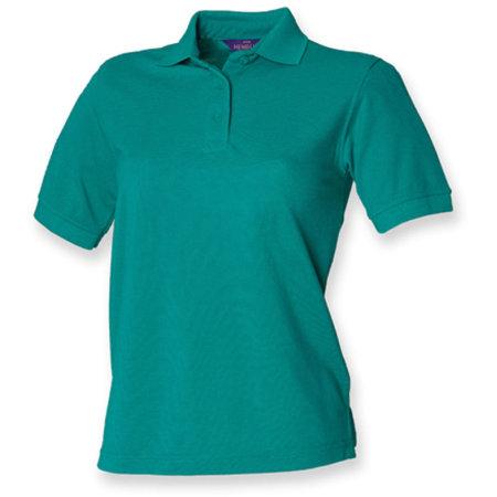 Ladies` 65/35 Classic Piqué Polo Shirt in Jade von Henbury (Artnum: W401