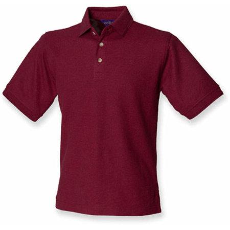 Ultimate 65/35 Piqué Polo Shirt in Burgundy von Henbury (Artnum: W410