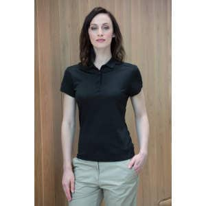 Ladies` Stretch Polo Shirt + Wick Finish
