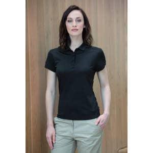 Ladies` Stretch Polo Shirt + Wick Finish