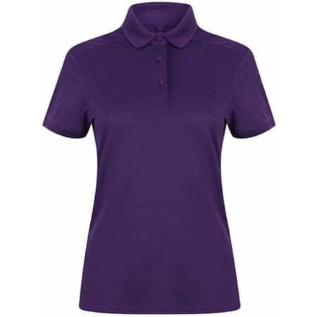 Ladies` Stretch Polo Shirt + Wick Finish in Bright Purple von Henbury (Artnum: W461