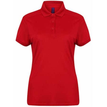 Ladies` Stretch Polo Shirt + Wick Finish in Red von Henbury (Artnum: W461