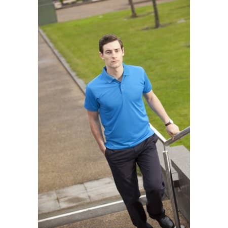 Cooltouch Textured Stripe Polo von Henbury (Artnum: W473