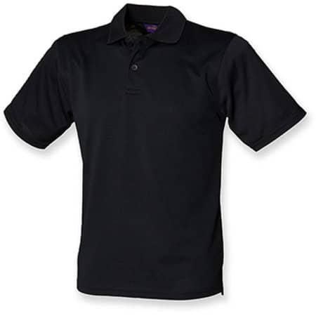 Men`s Coolplus Wicking Polo Shirt in Black von Henbury (Artnum: W475