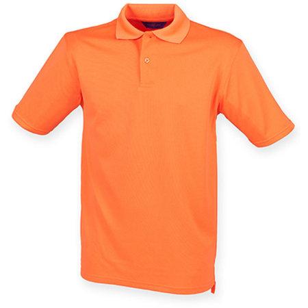 Men`s Coolplus Wicking Polo Shirt in Bright Orange von Henbury (Artnum: W475