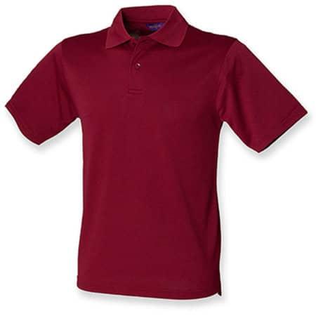 Men`s Coolplus Wicking Polo Shirt in Burgundy von Henbury (Artnum: W475