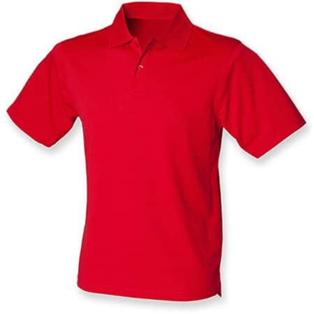 Men`s Coolplus Wicking Polo Shirt in Classic Red von Henbury (Artnum: W475