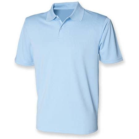 Men`s Coolplus Wicking Polo Shirt in Light Blue von Henbury (Artnum: W475