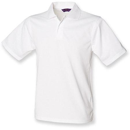Men`s Coolplus Wicking Polo Shirt in White von Henbury (Artnum: W475
