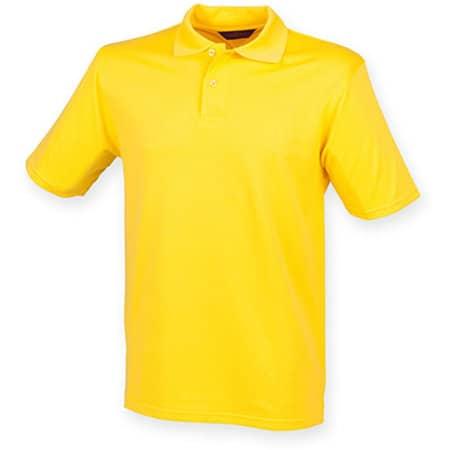 Men`s Coolplus Wicking Polo Shirt in Yellow von Henbury (Artnum: W475